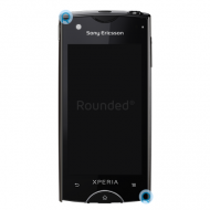 Sony Ericsson Xperia Ray ST18i display module, digitizer assembly black spare part 1247-9686