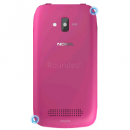 Nokia 610 Lumia battery cover, battery lid magenta spare part BATTC