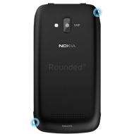 Nokia 610 Lumia battery cover, battery lid black spare part BATTC