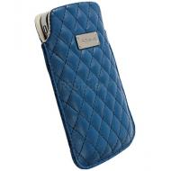 Krusell Avenyn Luxurious Leather Pouch Size XXL Blue