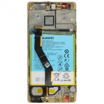 Huawei P9 Plus Display module frontcover+lcd+digitizer + battery gold 02350SUQ 02350SUQ image-2