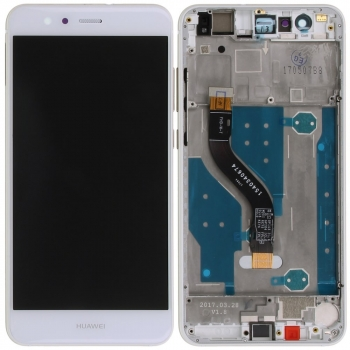 Huawei P10 Lite Display module frontcover+lcd+digitizer white Display digitizer, touchpanel incl. frontcover.