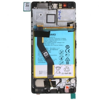 Huawei P9 Plus Display module frontcover+lcd+digitizer + battery grey 02350SUS 02350SUS image-1