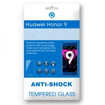 Huawei Honor 9 Tempered glass Anti-shock Tempered GlassUse the Anti-shock Tempered Glass. foroptimal protection of your touchscreen. It protects your device against scratches, bumpsand falling, this ensures a longer life of your display. This Anti-shock Tempered Glassis made of real glass that has been hardened in a special way. Itis only 0.3mm thin and has no negative impact on your touch screen. The Anti-shock Tempered Glass has rounded edges. Because of this the Anti-shock Tempered glass is barely noticeable and does not interfere during use.You can easily stick theAnti-shock Tempered Glasswithoutbubbles. Justputthe Anti-shock Tempered Glassright on the device and push it from the middle, starting atthe speaker, from top to bottom on the screen. After this the product will stick itself onto the screen.Content:1xAnti-shock Tempered GlassMicrofiber cloth to remove dustAlcoholcloth to remove fat/oilFeatures:9H hardness glassOleophobic coatingResponsive touchSatter proofComplete transparencyPerfect adhesion