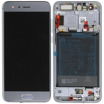 Huawei Honor 9 (STF-L09) Display module frontcover+lcd+digitizer+battery silver grey 02351LCD 02351LCD