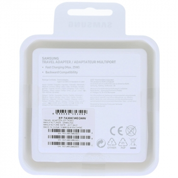 Samsung Fast travel charger EP-TA300CWEGWW incl. microUSB data cable type-C white   image-1