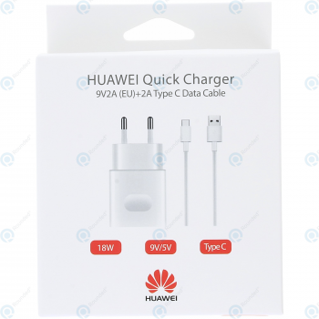 Huawei Quick travel charger 2000mAh incl. USB data cable type-C white (EU Blister) AP32