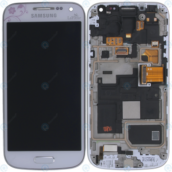 Samsung Galaxy S4 Mini (GT-I9195) Display unit complete white la fleur GH97-15541B