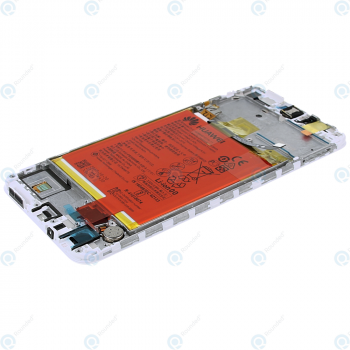 Huawei P smart (FIG-L31) Display module frontcover+lcd+digitizer+battery white 02351SVL 02351SVE_image-3