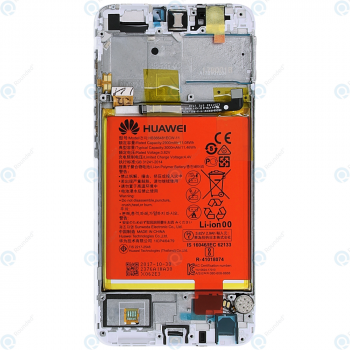 Huawei P smart (FIG-L31) Display module frontcover+lcd+digitizer+battery white 02351SVL 02351SVE_image-6
