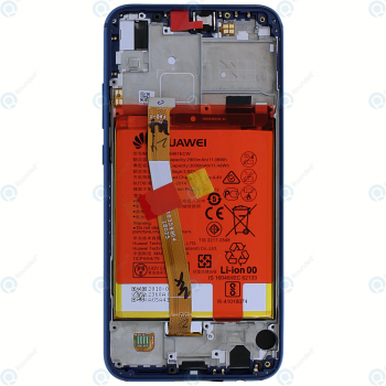 Huawei P20 Lite (ANE-L21) Display module frontcover+lcd+digitizer+battery klein blue 02351VUV_image-6