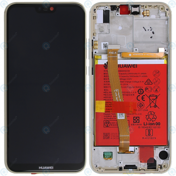 Huawei P20 Lite (ANE-L21) Display module frontcover+lcd+digitizer+battery gold 02351WRN