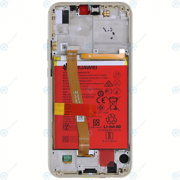 Huawei P20 Lite (ANE-L21) Display module frontcover+lcd+digitizer+battery gold 02351WRN_image-6