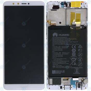 Huawei Y9 2018 Display module LCD + Digitizer white 02351VFU
