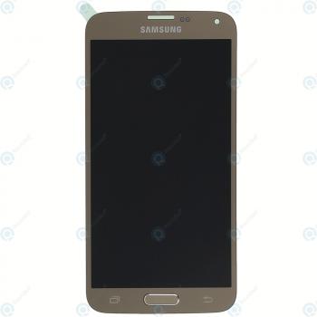 Samsung Galaxy S5 Neo (SM-G903F) Display module LCD + Digitizer gold GH97-17787B_image-6