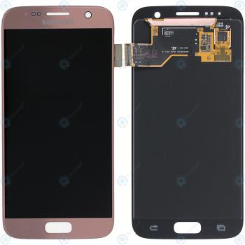 Samsung Galaxy S7 (SM-G930F) Display module LCD + Digitizer pink GH97-18523E_image-2