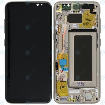 Samsung Galaxy S8 (SM-G950F) Display unit complete gold GH97-20473F GH97-20457F