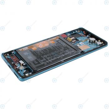 Huawei P30 Pro (VOG-L09 VOG-L29) Display module frontcover+lcd+digitizer+battery aurora blue 02352PGE_image-3