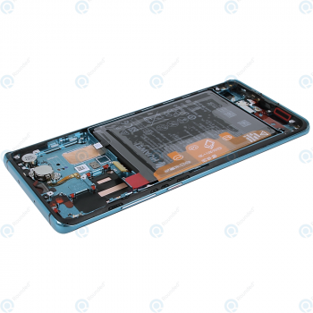 Huawei P30 Pro (VOG-L09 VOG-L29) Display module frontcover+lcd+digitizer+battery aurora blue 02352PGE_image-4