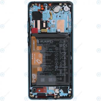 Huawei P30 Pro (VOG-L09 VOG-L29) Display module frontcover+lcd+digitizer+battery aurora blue 02352PGE_image-6