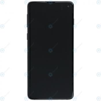Samsung Galaxy S10 (SM-G973F) Display unit complete prism black GH82-18850A_image-5