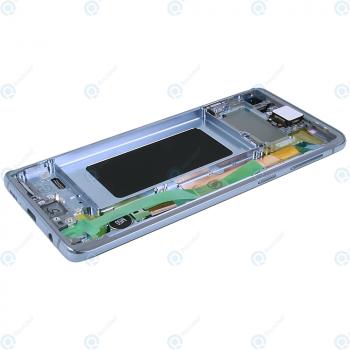 Samsung Galaxy S10 (SM-G973F) Display unit complete prism blue GH82-18850C_image-3