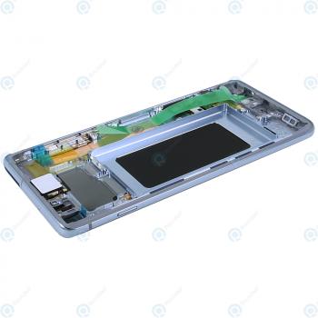 Samsung Galaxy S10 (SM-G973F) Display unit complete prism blue GH82-18850C_image-4
