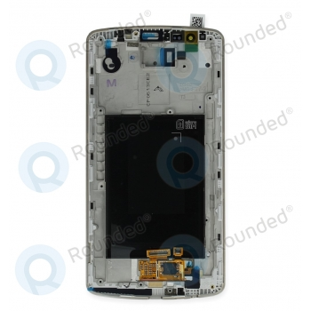 LG G3 (D855) Display module frontcover+lcd+digitizer gold ACQ87190303 backside