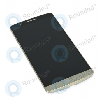 LG G3 (D855) Display module frontcover+lcd+digitizer gold ACQ87190303