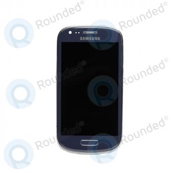 Samsung Galaxy S3 Mini (I8190) Display unit complete blue (GH97-14204B) image-1