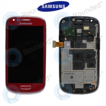 Samsung Galaxy S3 Mini (I8190) Display unit complete red