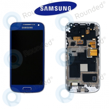 Samsung Galaxy S4 Mini (I9195) Display unit complete blue (GH97-14766C)