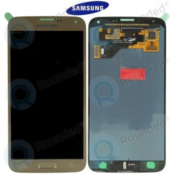 Samsung Galaxy S5 Neo (SM-G903F) Display unit complete goldGH97-17787B