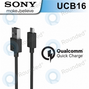 Sony UCB-16 microUSB data cable black   image-1
