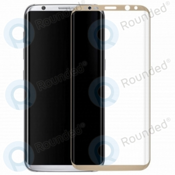 Samsung Galaxy S8 Plus Tempered glass 3D gold  image-2