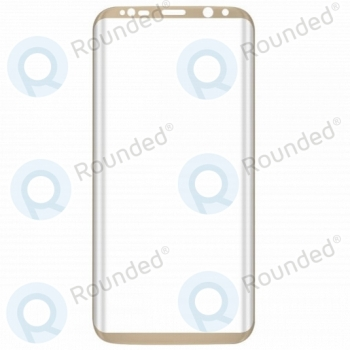 Samsung Galaxy S8 Tempered glass 3D gold  image-1