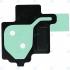 Samsung Galaxy S8 (SM-G950F) Adhesive sticker  camera frame