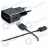 Samsung USB travel charger 1000 mAh incl. USB data cable black ETA0U81EBE + ECC1DU5ABE ETA0U81EBE + ECC1DU5ABE