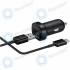 Samsung Mini fast car charger EP-LN930C 18W 2A + microUSB type-C data cable black EP-LN930CBEGWW EP-LN930CBEGWW