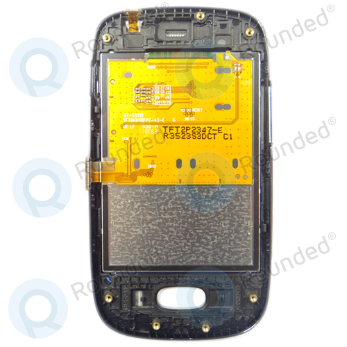 Samsung Galaxy Pocket Neo Display module + front cover (black)